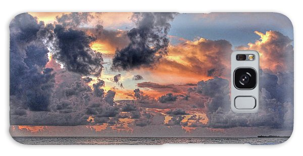Beach Walk - Florida Seascape Galaxy Case