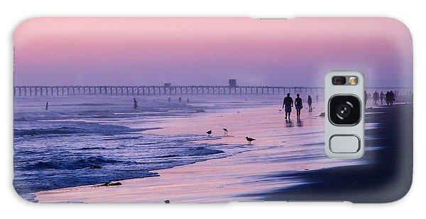 Beach Walk Galaxy Case by Jan Cipolla