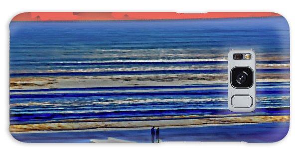 Beach Walking At Sunrise Galaxy Case