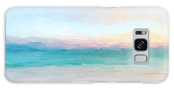 Beach Watercolor Sunrise Galaxy Case