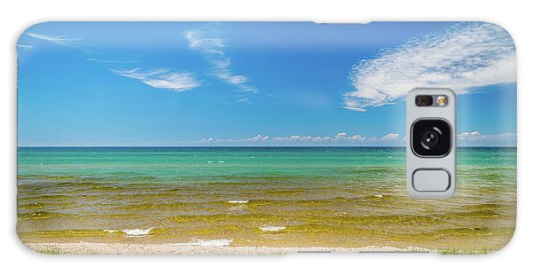 Beach With Blue Skies And Cloud Galaxy Case
