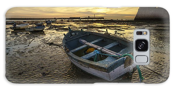 Beached Boat On La Caleta Cadiz Spain Galaxy Case by Pablo Avanzini