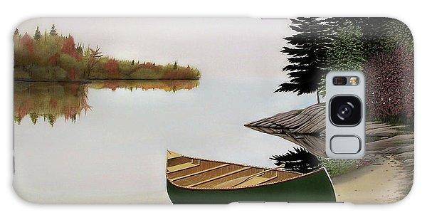 Beached Canoe In Muskoka Galaxy Case