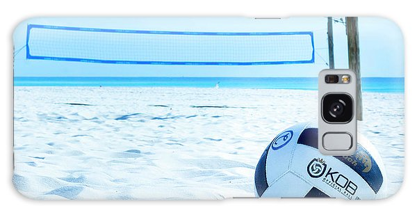Volleyball On The Beach Galaxy Case