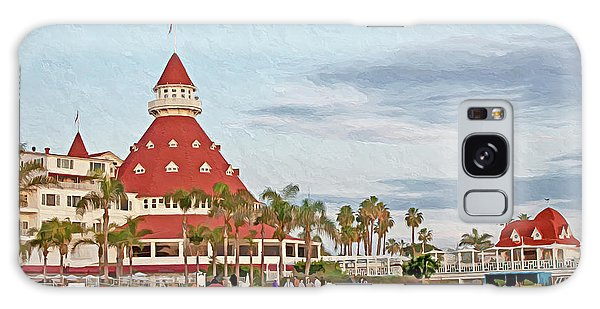 Beachfront Hotel Del Coronado Galaxy Case