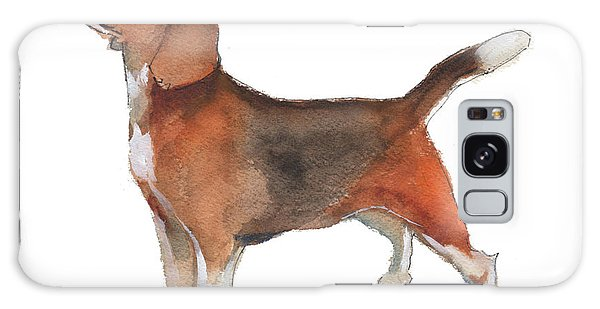 Beagle Watercolor Painting By Kmcelwaine Galaxy Case