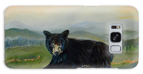 Bear Alone On Blue Ridge Mountain Galaxy Case