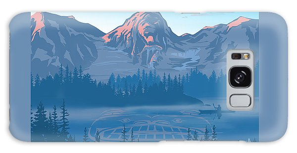 Mountain Lake Galaxy Case - Bear Country Scenic Landscape by Sassan Filsoof