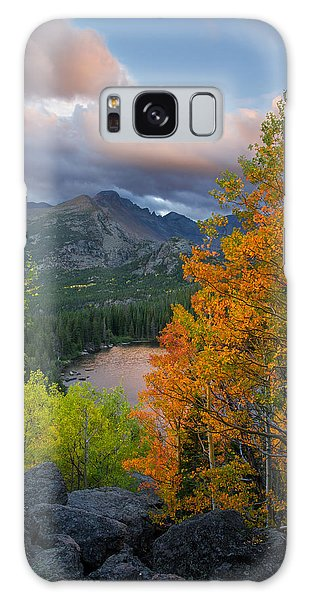 Bear Lake Autumn Galaxy Case by Aaron Spong