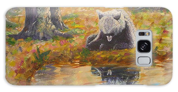 Bear Reflecting Galaxy Case