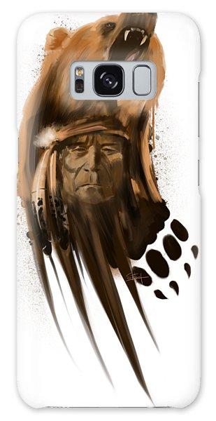 Grizzly Bear Galaxy Case - Bear Spirit  by Sassan Filsoof