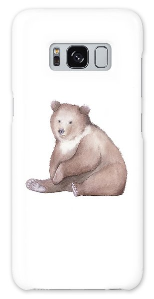 Bear Watercolor Galaxy Case by Taylan Apukovska