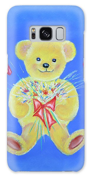 Bear With Flowers Galaxy Case