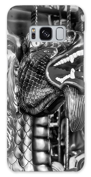 County Fair Galaxy Case - Bearded Dragon Ride Black And White by Garry Gay