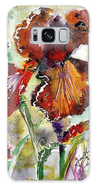 Bearded Iris Brown Sally Watercolor Galaxy Case