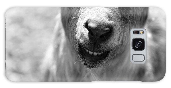 Beardy Smiley Galaxy Case by Angela Rath