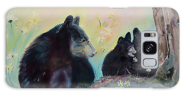 Galaxy Case featuring the painting Bears Frolicking In Spring by Jan Dappen