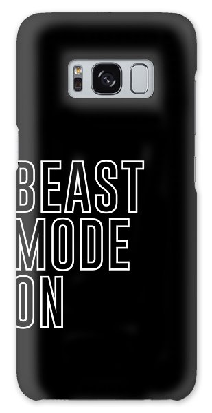 Workout Galaxy Case - Beast Mode On - Gym Quotes - Minimalist Print - Typography - Quote Poster by Studio Grafiikka