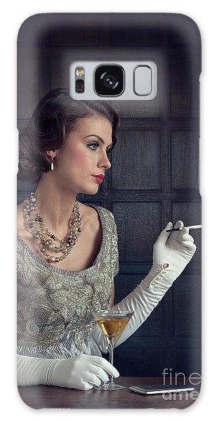 Beautiful 1930s Woman With Cocktail And Cigarette Galaxy Case
