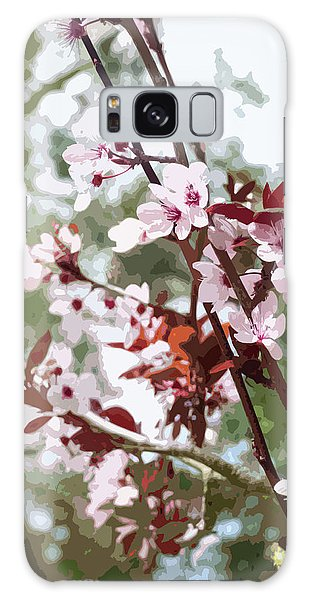 Beautiful Almond Blossoms Galaxy Case