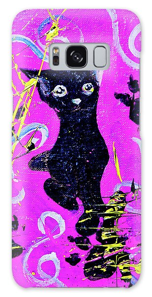 Galaxy Case featuring the mixed media Beautiful Black Pussy by eVol i