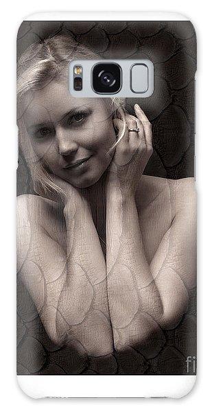 Beautiful Blonde Posing Galaxy Case