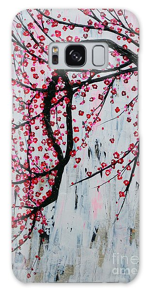 Galaxy Case featuring the painting Beautiful Blossoms by Natalie Briney