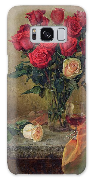 Beautiful Bouquet Of Roses Galaxy Case