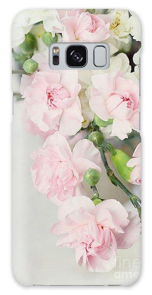 Beautiful Carnations Galaxy Case by Stephanie Frey