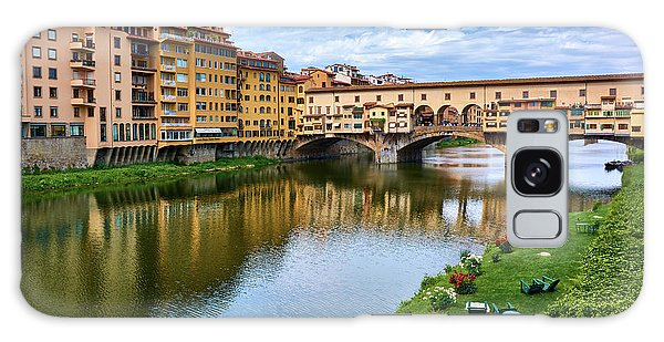 Ponte Vecchio On A Spring Day In Florence, Italy Galaxy Case