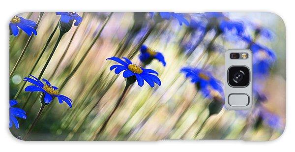Beautiful Dancing Blue Flowers Romance Galaxy Case