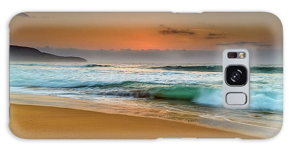 Beautiful Hazy Sunrise Seascape  Galaxy Case
