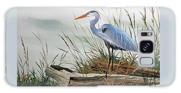 Herons Galaxy Case - Beautiful Heron Shore by James Williamson
