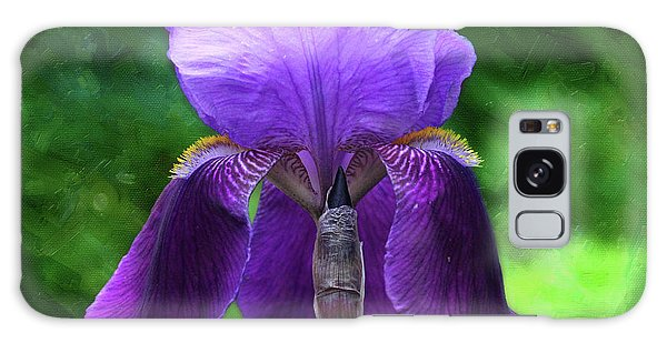 Beautiful Iris With Texture Galaxy Case