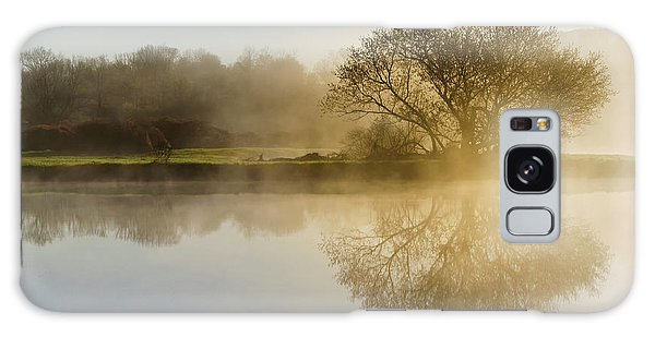Galaxy Case featuring the photograph Beautiful Misty River Sunrise by Christina Rollo