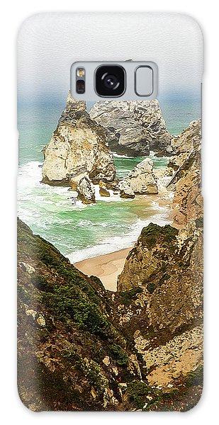 Beautiful Praia Da Ursa In Portugal Galaxy Case