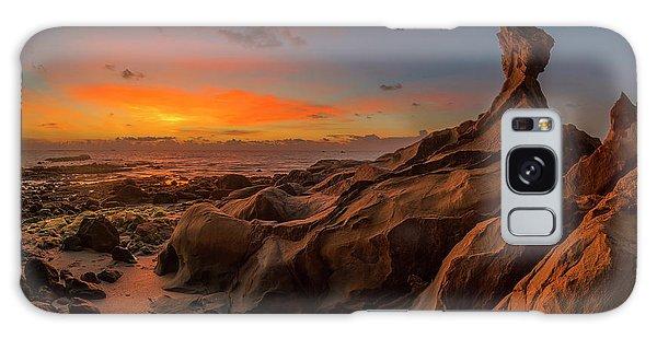 Galaxy Case featuring the photograph Beautiful Rocky Tindakon Beach Sunset View In Kudat Malaysia by Pradeep Raja PRINTS