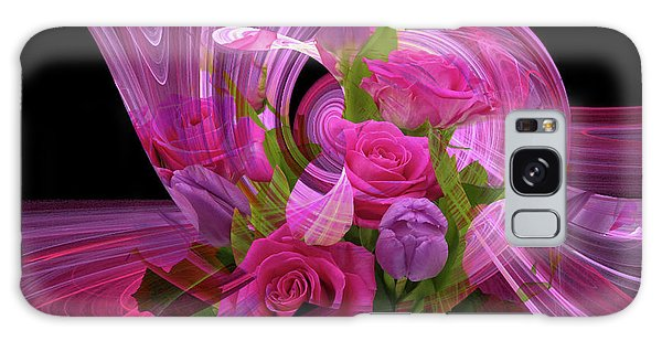 Beautiful Rose Bouquet Montage Galaxy Case