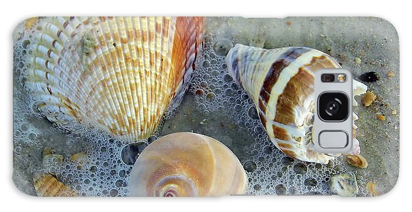 Beautiful Shells In The Surf Galaxy Case