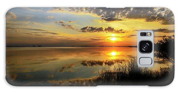 Beautiful Sunset At The Lake Galaxy Case