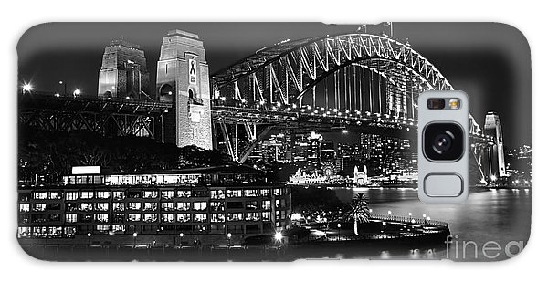 Beautiful Sydney Harbour In Black And White Galaxy Case