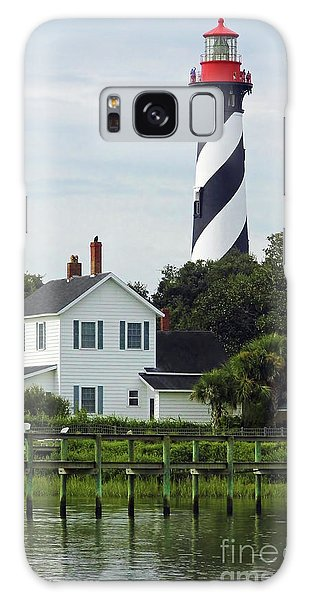 Beautiful Waterfront Lighthouse Galaxy Case