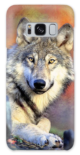 Beautiful Wolf Art Galaxy Case