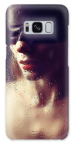Beautiful Woman Blindfolded #8313 Galaxy Case