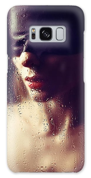 Beautiful Woman Blindfolded #8313 Galaxy Case