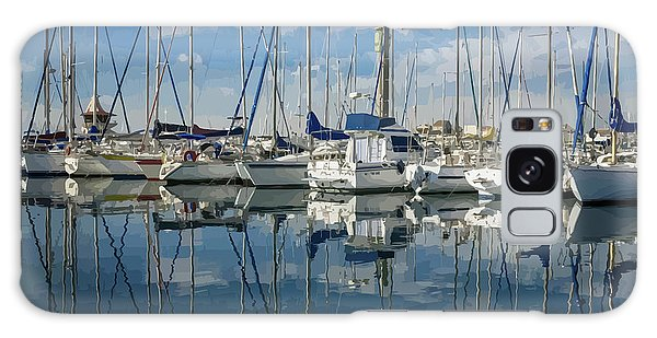 Beautiful Yachts Moored In The Marina Galaxy Case