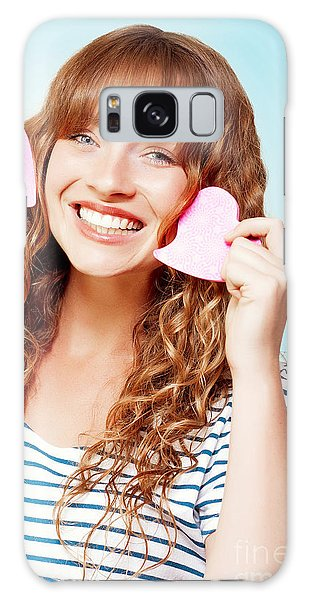 Vivacious Galaxy Case - Beautiful Young Woman In A Love Heart Romance by Jorgo Photography - Wall Art Gallery