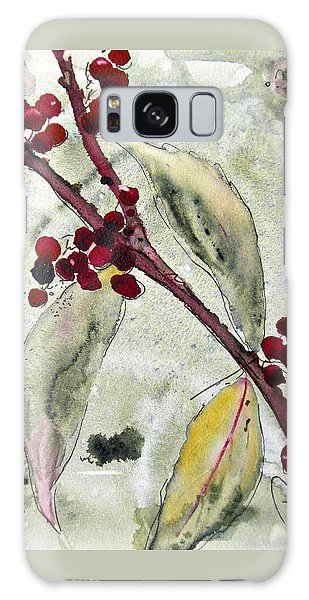 Beauty Berry Branch Galaxy Case by Dawn Derman