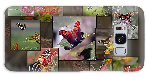 Beauty In Butterflies Galaxy Case by DigiArt Diaries by Vicky B Fuller
