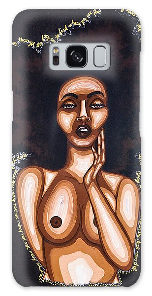 Galaxy Case featuring the painting Beauty In The Dark by Aliya Michelle